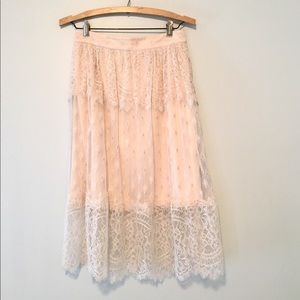 H&M Blush Pink Lace Skirt